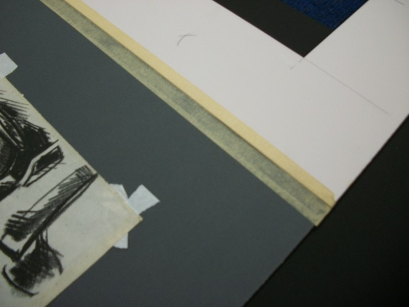 Masking tape has no place in a professional framing workshop