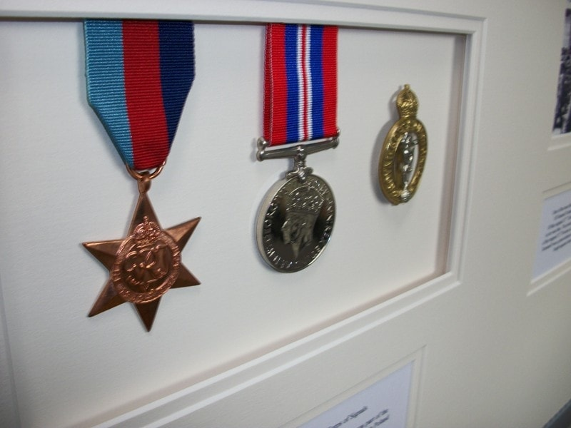 Medals and memorabilia look great when framed!