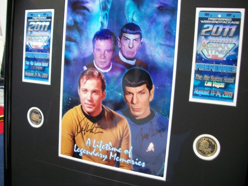 Signed Star Trek memorabilia - Museum Grade Framing