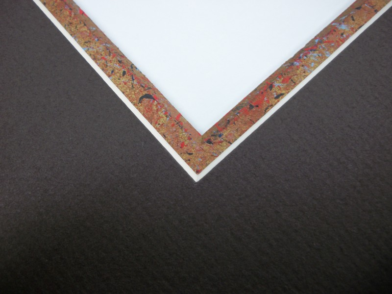 Notice the fine colour detail on this custom painted mount bevel