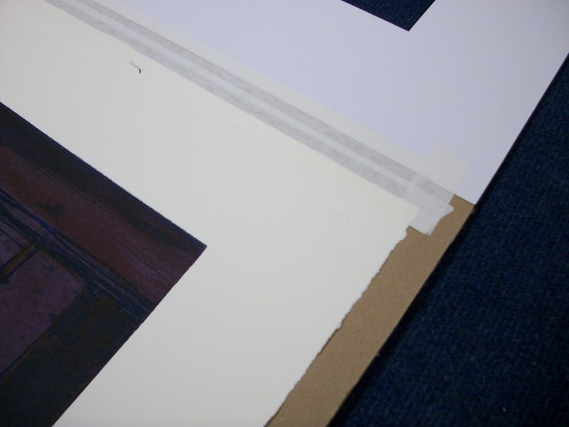 Artwork should be mounted onto a protective backing board