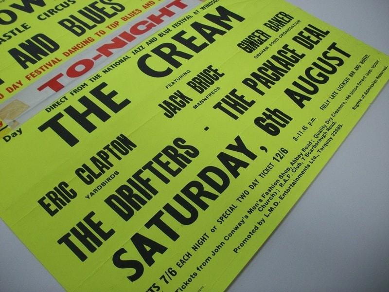An original 1960's gig poster