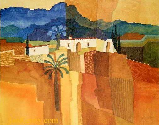 Gillian McDonald - Mediterranean Village IV