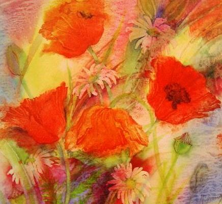 Gillian McDonald - Summer Poppies II