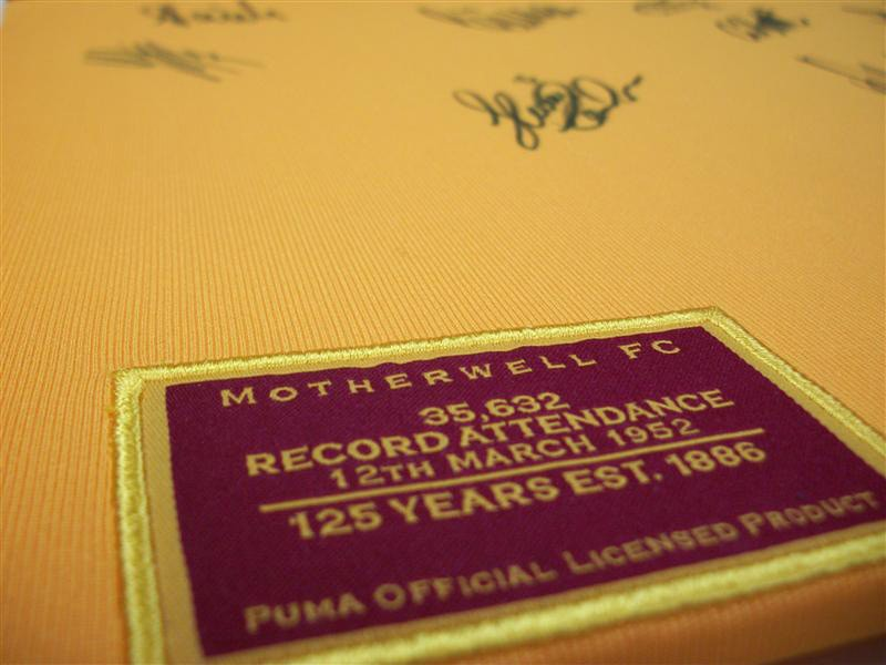 Detail from a signed Motherwell FC Top