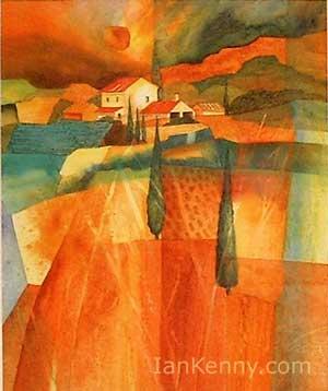 Gillian McDonald - Mediterranean Village X