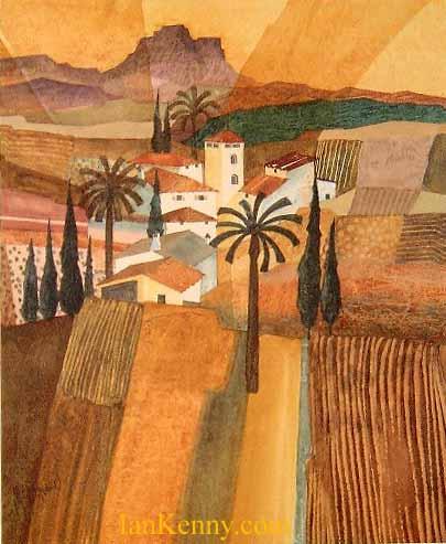 Gillian McDonald - Mediterranean Village III