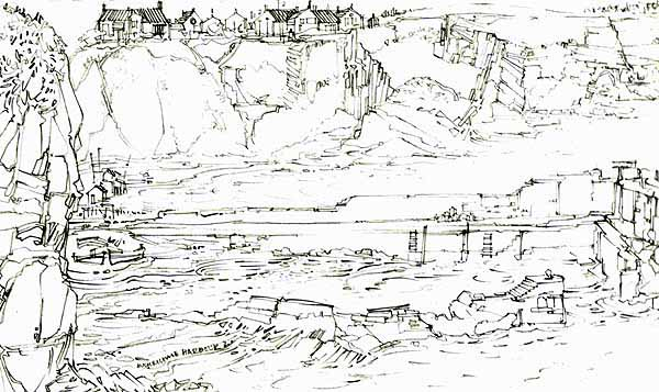 Robert Cairns DA - 2009 Drawings : Auchmithie Harbour 2