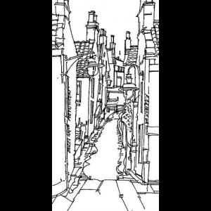 Robert Cairns DA - 2009 Drawings : Bruces Wynd, Pittenweem