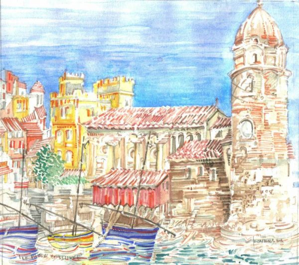Robert Cairns DA - 2009 Paintings : Le Phare, Collioure