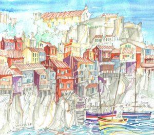 Robert Cairns DA - 2009 Paintings : Rue De Mirador, Collioure