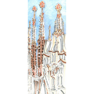 Robert Cairns DA - 2009 Paintings : Sagrada Familia Barcelona