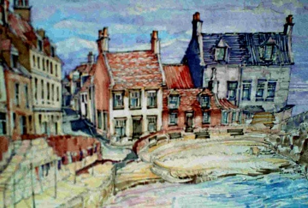 Robert Cairns DA - 2008 Paintings : Cellardyke Harbour 1