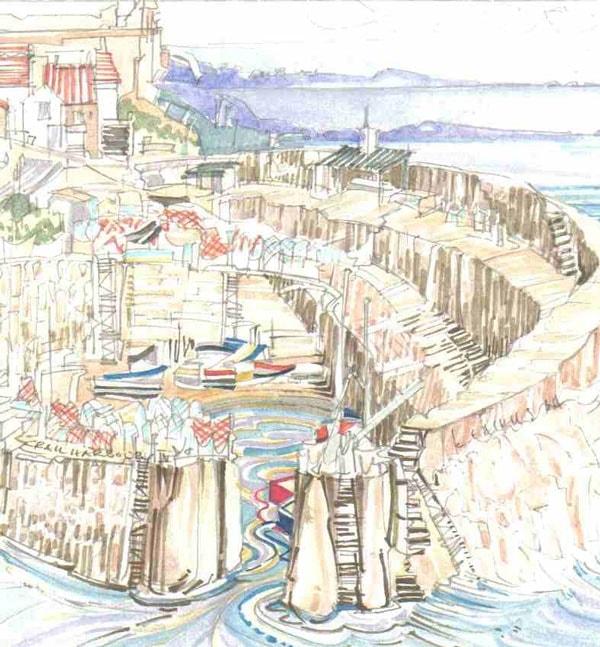 Robert Cairns DA - 2008 Paintings : Crail Harbour 4