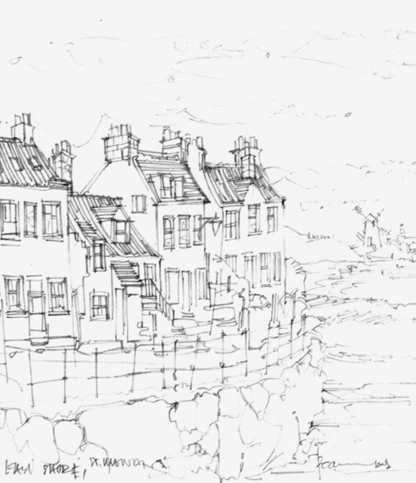 Robert Cairns DA - 2008 Drawings : East Shore, St Monans