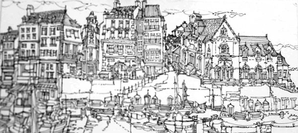 Robert Cairns DA - 2008 Drawings : Le Port, Douarnenez
