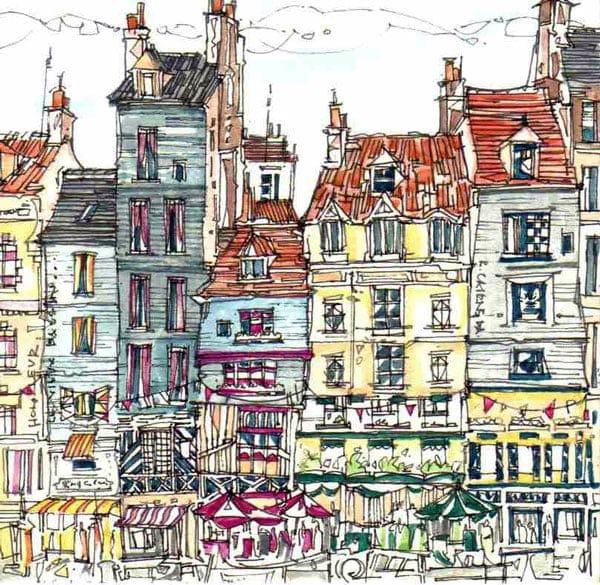 Robert Cairns DA - 2008 Paintings : Le Vieux Bassin, Honfleur