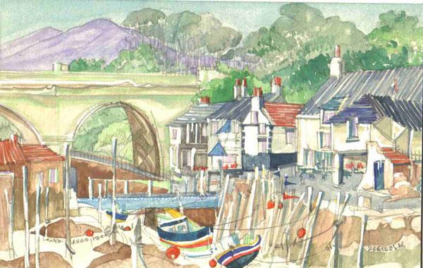 Robert Cairns DA - 2008 Paintings : Lower Largo Harbour 1