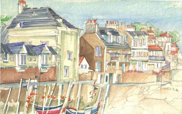 Robert Cairns DA - 2008 Paintings : Lower Largo Harbour 2