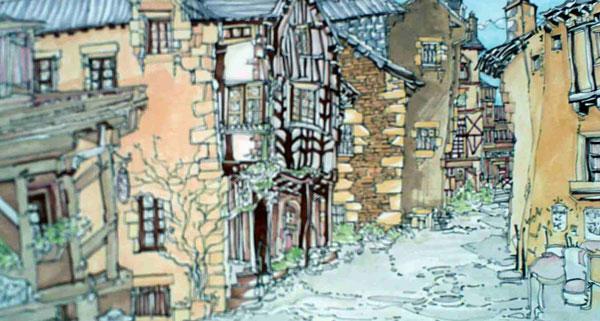 Robert Cairns DA - 2008 Paintings : Rochefort en Terre