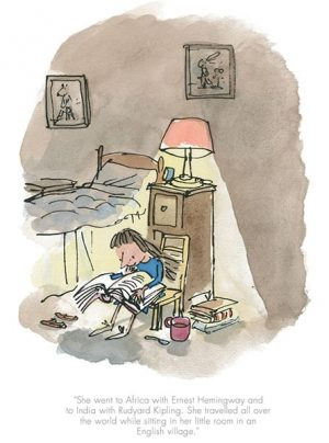 Quentin Blake - She travelled all over the world