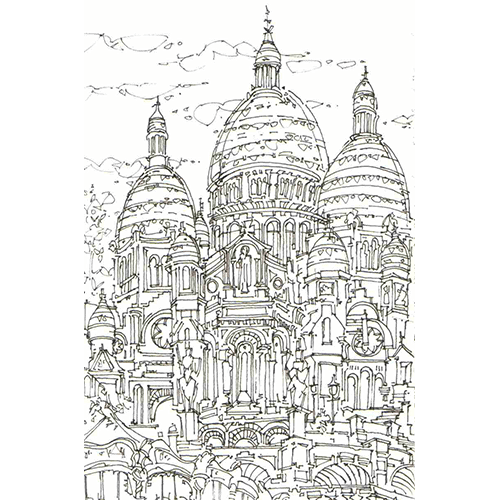 Robert Cairns DA - 2007 Drawings : Sacre Coeur, Paris