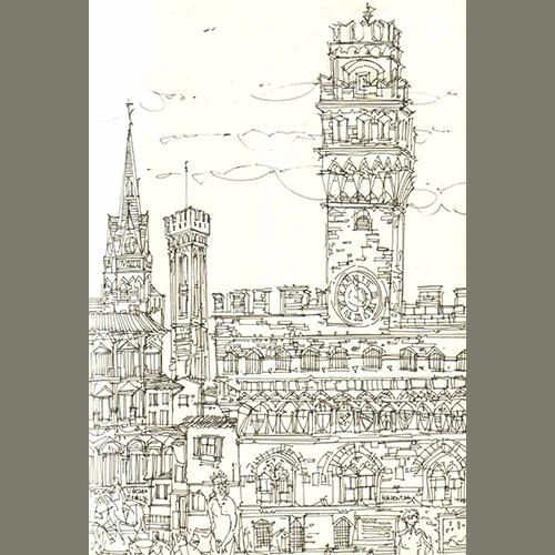 Robert Cairns DA - 2007 Drawings : Piazza della Signoria, Firenze