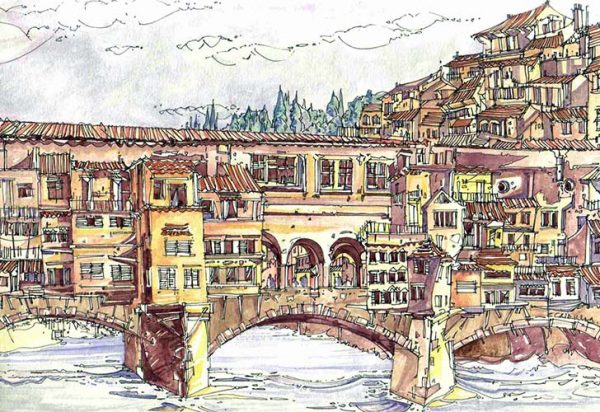 Robert Cairns DA - 2007 Paintings : Ponte Vecchio, Firenze