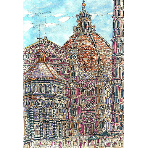 Robert Cairns DA - 2007 Paintings : Piazza del Duomo, Firenze