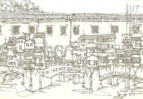 Robert Cairns DA - 2007 Drawings : Ponte Vecchio, Firenze