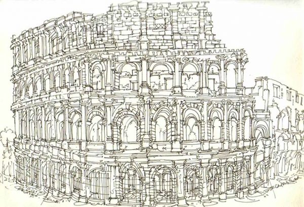 Robert Cairns DA - 2007 Drawings : Colosseo, Roma
