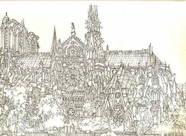 Robert Cairns DA - 2007 Drawings : Notre Dame de Paris