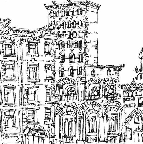 Robert Cairns DA - 2007 Drawings : Placa del Rei, Barcelona