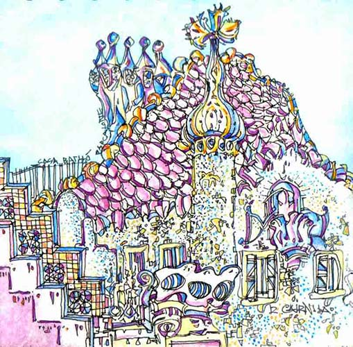 Robert Cairns DA - 2007 Paintings : Casa Batllo, Barcelona