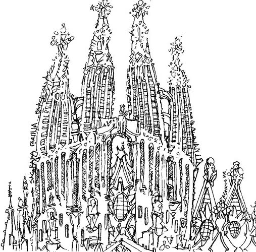 Robert Cairns DA - 2007 Drawings : Sagrada Familia, Barcelona