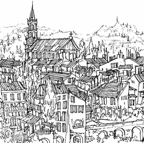 Robert Cairns DA - 2007 Drawings : Les Toits, Albi