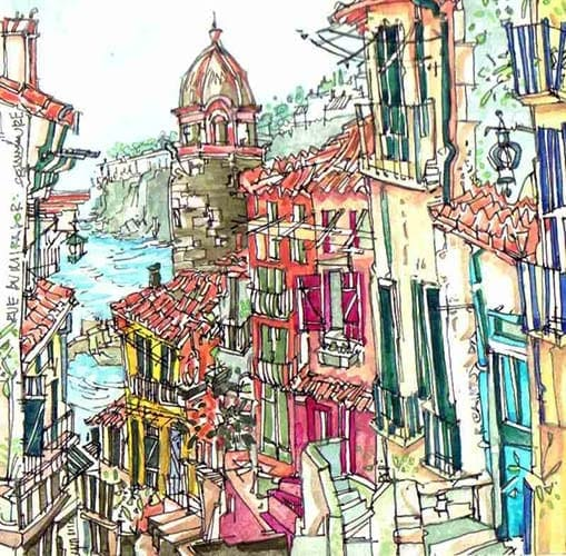 Robert Cairns DA - 2007 Paintings : Rue de Mirador, Collioure