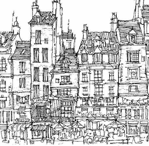 Robert Cairns DA - 2007 Drawings : Honfleur