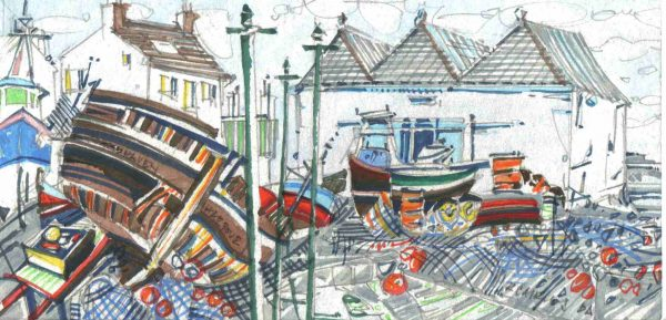 Robert Cairns DA - 2006 Paintings : Harbour I, Johnshaven