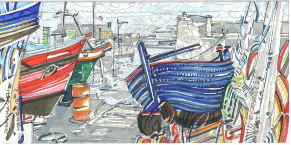 Robert Cairns DA - 2006 Paintings : Harbour II, Johnshaven
