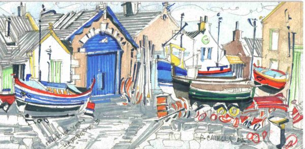 Robert Cairns DA - 2006 Paintings : Harbour III, Johnshaven