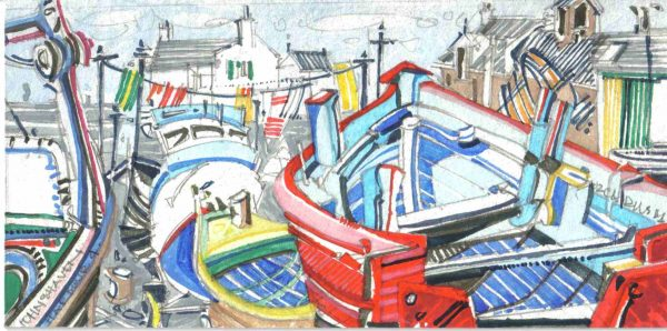 Robert Cairns DA - 2006 Paintings : Harbour IV, Johnshaven