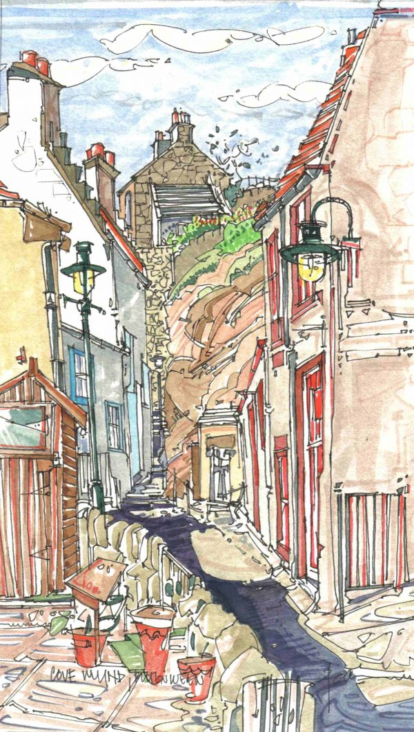 Robert Cairns DA - 2006 Paintings : Cove Wynd, Pittenweem