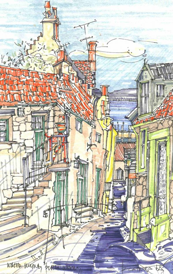 Robert Cairns DA - 2006 Paintings : Water Wynd, Pittenweem