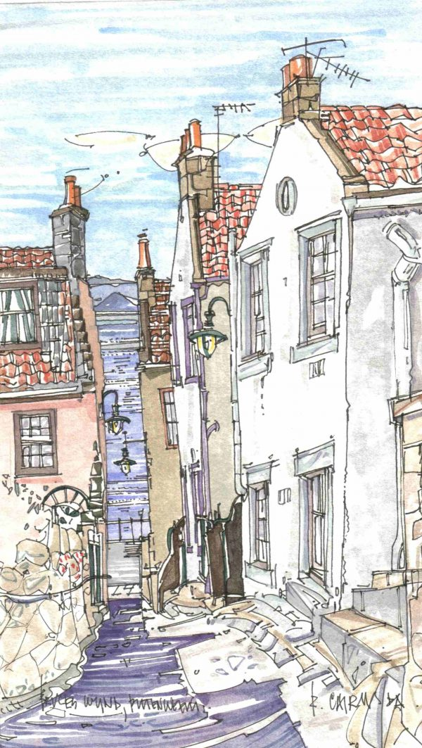 Robert Cairns DA - 2006 Paintings : Bruce's Wynd, Pittenweem