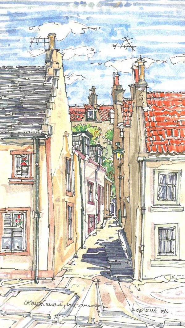 Robert Cairns DA - 2006 Paintings : Calman's Wynd, Pittenweem