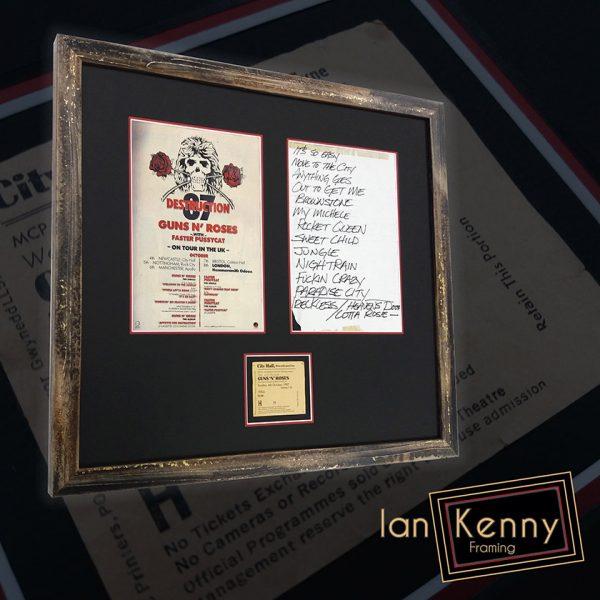 Guns N'Roses Set List and Tour Poster