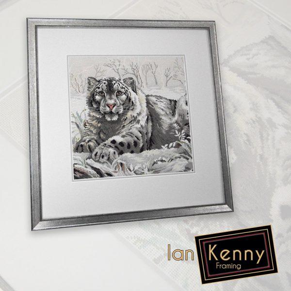 Snow Leopard Needlepoint